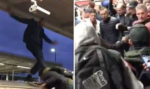 London commuters ERUPT: Huge Jubilee Line brawl breaks out at Extinction Rebellion protest