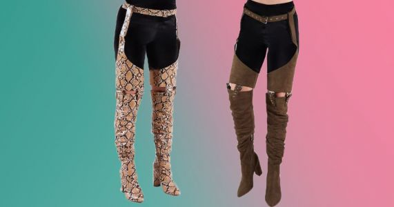 People aren't sure what to make of Public Desire's crotchless trouser boots
