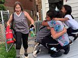 Heartwarming video shows 10-year-old girl reuniting with her sisters for the first time in a YEAR