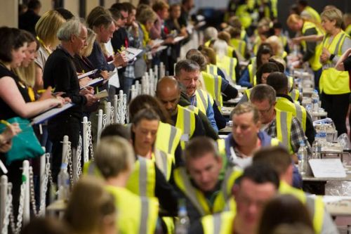 What time will Scottish constituencies declare their General Election results?