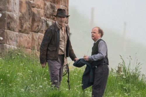 Harrison Ford spotted with famous whip filming Indiana Jones film in Scotland