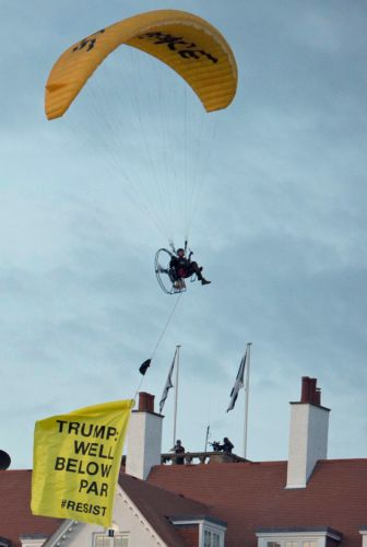 Donald Trump Told He Is 'Well Below Par' By Greenpeace Activist In Fly-Over Protest Being Investigated By Police