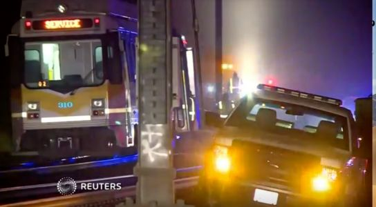 27 people were injured after a light rail train derailed in California