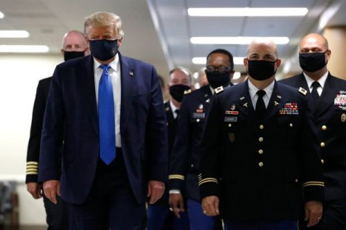 Donald Trump Finally Wears A Mask In Public