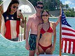 Bethenny Frankel sizzles in red bikini while spending Fourth Of July with boyfriend Paul Bernon