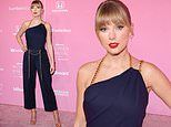 Taylor Swift stuns in navy jumpsuit as she is leads stars on red carpet at Billboard Women in Music