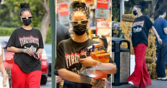 Rihanna makes a low-key trip to stock up on Uncle Ben's boil in the bag rice and bumps into Tyler, The Creator