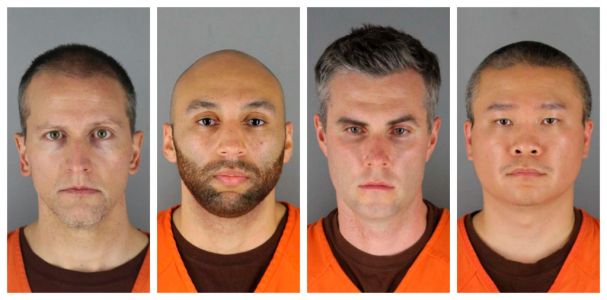 Mugshots released of four cops charged over death of George Floyd
