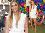 Jacqueline Jossa puts on a leggy display in a white playsuit
