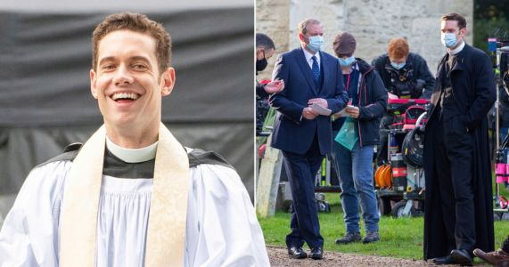 Granchester series 6 kicks off filming in dramatic fashion as Tom Brittney's Will Davenport steps in on punch-up