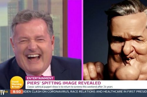 Piers Morgan unveils his Spitting Image puppet: It looks nothing like me!