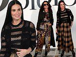 Demi Moore and Andie MacDowell at Dior show