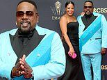Cedric The Entertainer rocks the red carpet in a stylish blue suit before hosting the Emmys