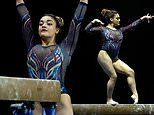 Laurie Hernandez competes in her first gymnastics meet since the 2016 Olympics