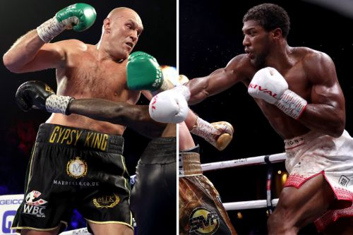 Anthony Joshua reveals he sparred Tyson Fury for a Rolex watch in 2010