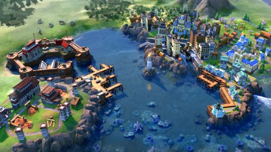 This Civilization 6 mod boosts your coastal cities with new districts and buildings