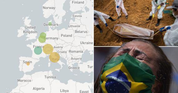 Map reveals how Brazil's Covid variant has spread across Europe