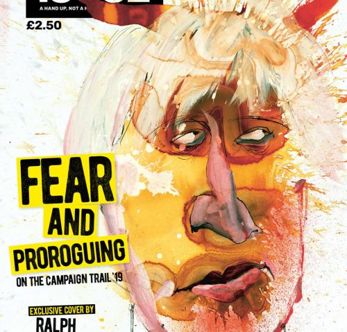 "Ralph Steadman's exclusive Big Issue cover shows ""the state we're in"""