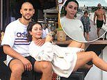 Martha Kalifatidis and Michael Brunelli look relaxed as they drink in Bondi lifestyle