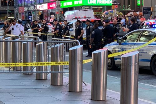 Times Square being evacuated 'out of precaution' as cops investigate call making 'bomb threat' near Disney Store