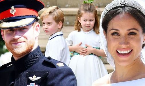 Meghan and Harry reveal amazement at Princess Charlotte and George during royal wedding