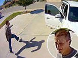Incredible moment 10-year-old girl chases off suspected burglar when she jumps out of parents' car