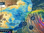 Huge swathes of Australia are set for days of wild weather as rain bomb drenches the country