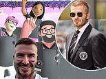David Beckham gets ready for Inter Miami's match tomorrow with computer generated fans