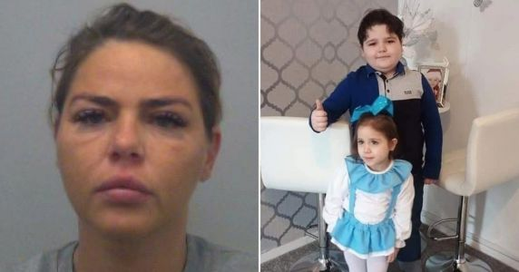 Mum accused of killing kids in crash hands herself in after 'going on run'