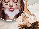 Gigi Hadid goes topless and lathers up in the bath for a VERY risqué fashion shoot