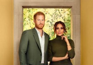 Meghan and Harry pose for new photos inside their California home