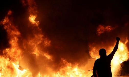 Cars set alight as protests erupt in Barcelona over jailed separatist leaders