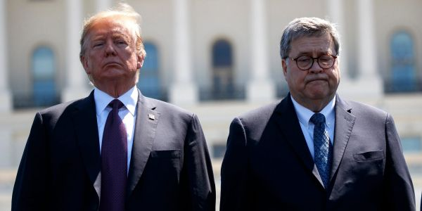 'Ask me that in a number of weeks': Trump refuses to say if he has confidence in Attorney General Bill Barr