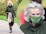 A VERY windswept Duchess of Cornwall visits The National Arboretum