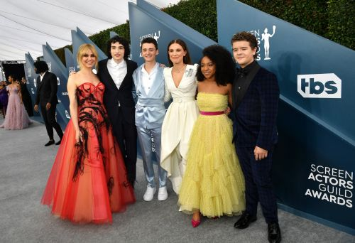 Millie Bobby Brown and the 'Stranger Things' cast reunited and looked stunning on the SAG Awards red carpet