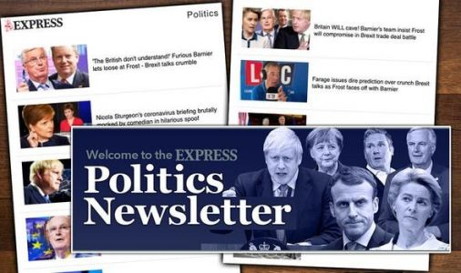 Never miss a Brexit update again with Express.co.uk politics newsletter - sign up here