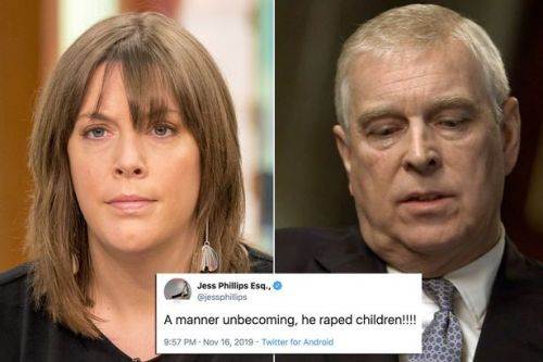 Prince Andrew slammed for saying paedo friend acted in a 'manner unbecoming'