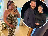 Brittany Cartwright showcases her burgeoning baby bump in a skintight leopard-print jumpsuit