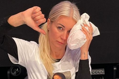 Denise Van Outen shares aftermath pictures of Dancing On Ice fall