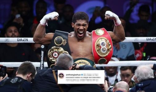 Anthony Joshua sends classy message to fans on Instagram after Andy Ruiz Jr win