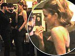 Kate Beckinsale puts on ultra stylish display in black strapless number during dinner date
