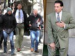 Hugh Jackman flanked by bodyguards while shooting new movie in New York