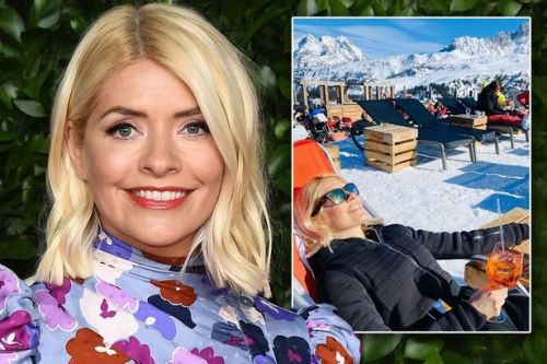 Holly Willoughby enjoys boozy half term ski holiday and shares rare video of son Chester