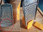 The little-known slicing feature on the bottom of hand-held graters