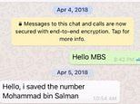 PICTURED: The 'WhatsApp 'hack' messages Saudi Arabian Crown prince sent Jeff Bezos