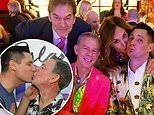 Radio host Elvis Duran, 55, and Alex Carr, 33, marry after almost 10 years together