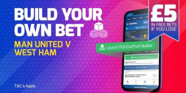 £5 Risk Free Bet on Man United vs West Ham - Available for All Betfred Customers