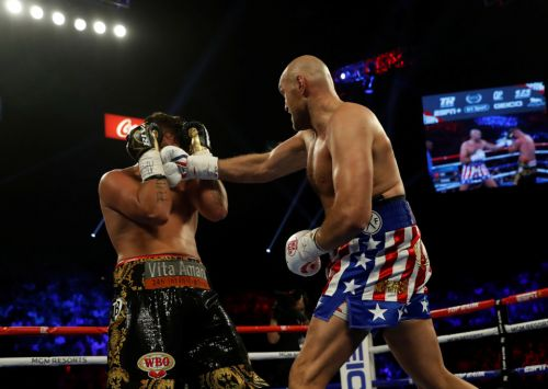Tyson Fury destroys Tom Schwarz in second-round KO to avoid Anthony Joshua-style upset