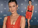 Bella Hadid stuns in burnt orange mini dress during an intimate dinner hosted by Tag Heuer in Monaco