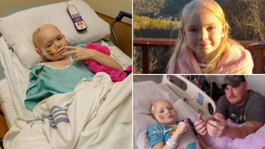 Couple set to bankrupt themselves to treat 8 year-old daughter's aggressive brain cancer